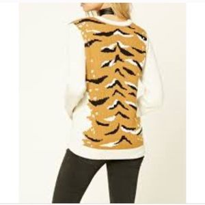 Forever 21 Sweaters - Forever 21 Beige Taupe brown tiger print sweater